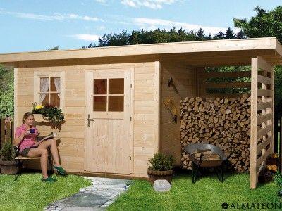 Chalet de jardin en bois brut, de 9.2 m². Modèle : Schongau 5 ...