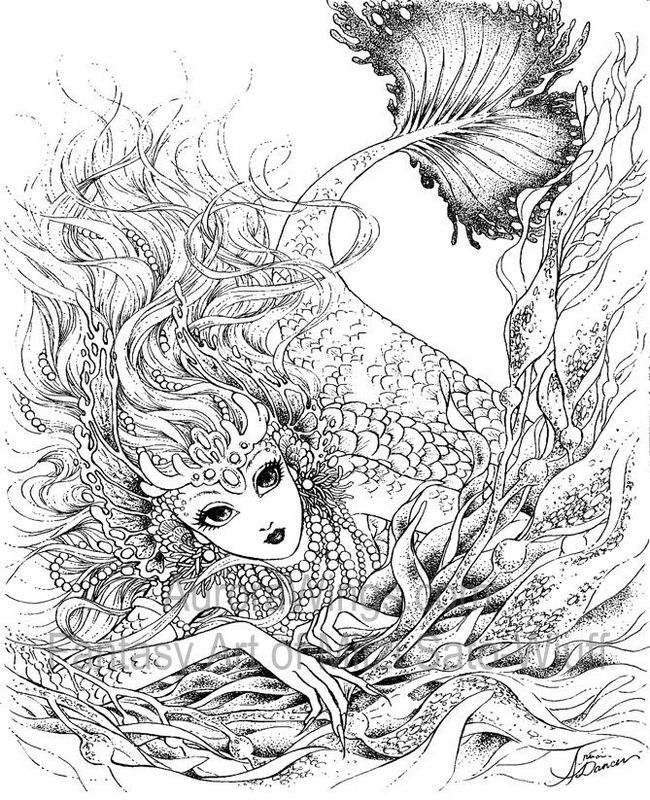coloring pages of mystical angels - photo#8