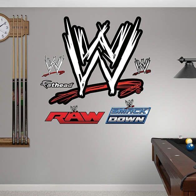Wwe Logo Wwe Wrestling Wall Decals Wwe Bedroom Decor Wwe Logo
