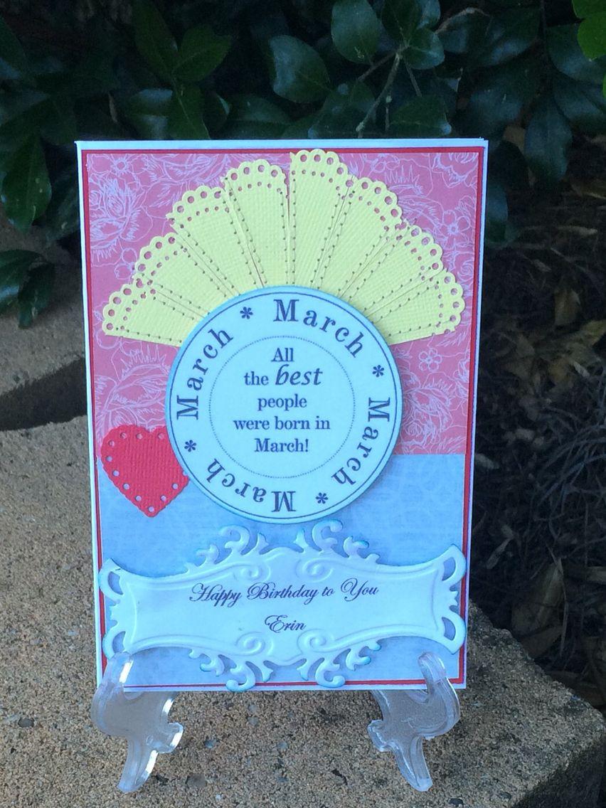 March birthday card