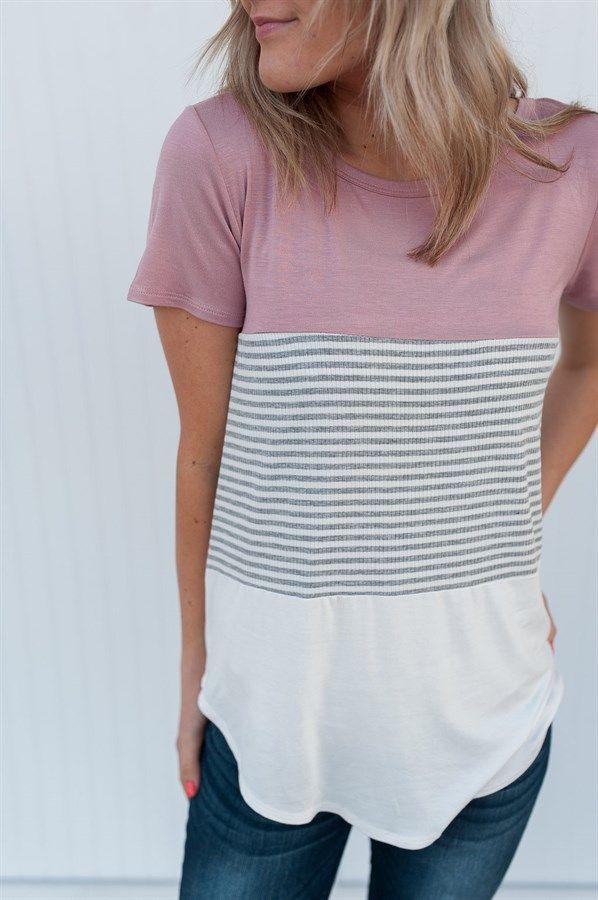 Textured Color Block Top | Nähmuster, Frühlingsoutfit und Mode für ...
