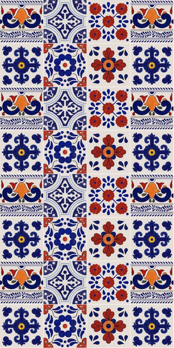 Mexican Patchwork Mix Wallpaper Removable Vinyl Wallpaper Etsy In 2021 Vinyl Wallpaper Cute Patterns Wallpaper Wallpaper