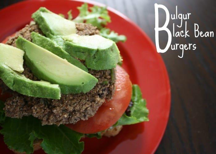 Baked Black Bean Burgers with Bulgur  The post Baked Black Bean Burgers with Bul…