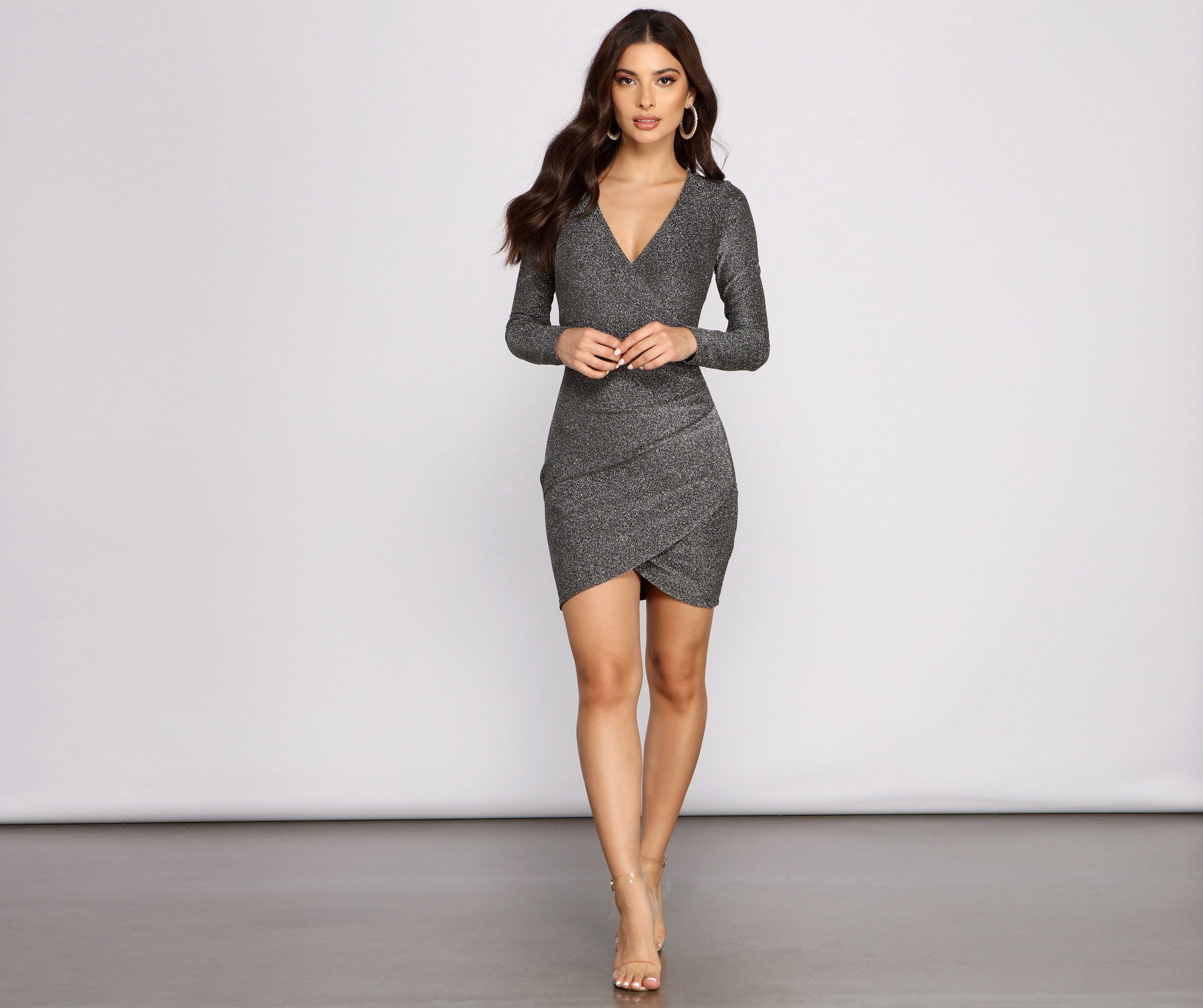 Glitter And Glam Long Sleeve Mini Dress In 2021 Long Sleeve Mini Dress Mini Dress Long Sleeve Mini [ 2145 x 2560 Pixel ]