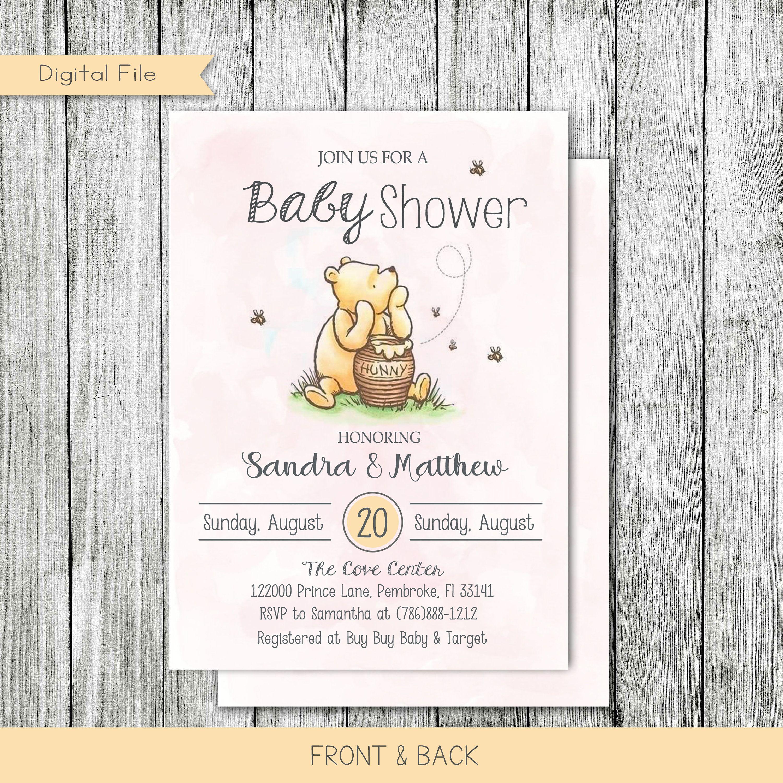 Winnie The Pooh Baby Shower Invitation Baby Shower Etsy Disney Baby Shower Baby Shower Baby Shower Invitations
