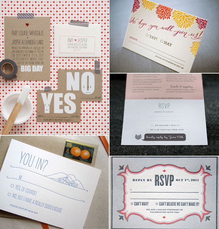 RSVP Response Cards. Love The Song Request Idea.