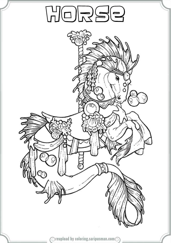 Carousel Horse Coloring Pages To Print | Printable Coloring Pages ...