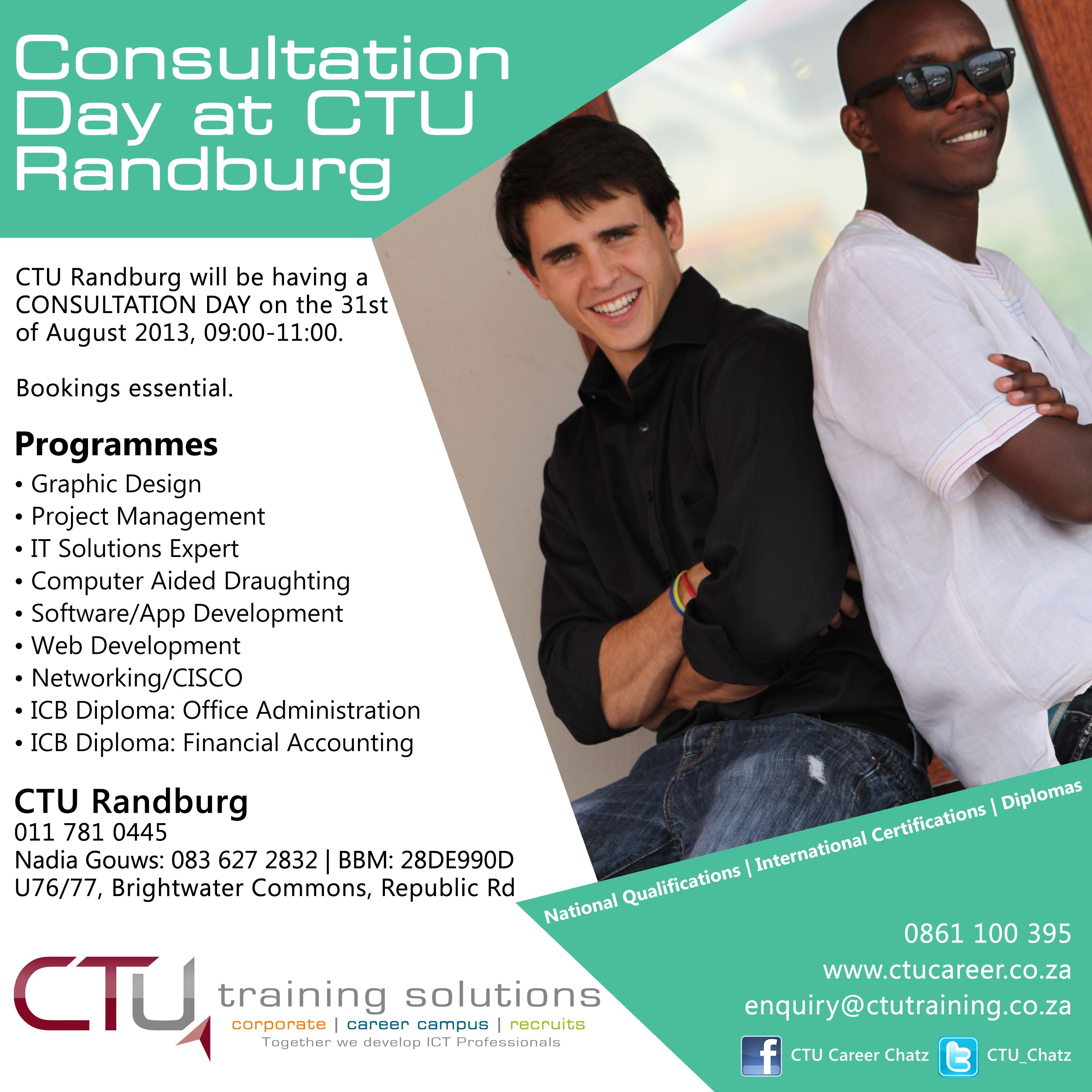 Ctu Randburg Consultation Day Drafting Software Computer Aided Drafting Graphic Design Projects