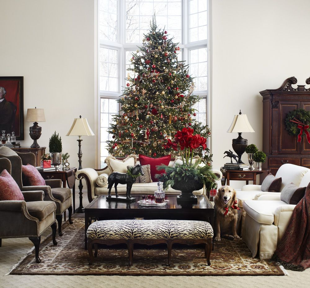 Holiday living room scene at the Polohouse. Midwest Living magazine  polohouse.blogspot.com