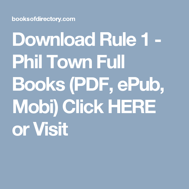download rule 1 phil town full books pdf epub mobi click