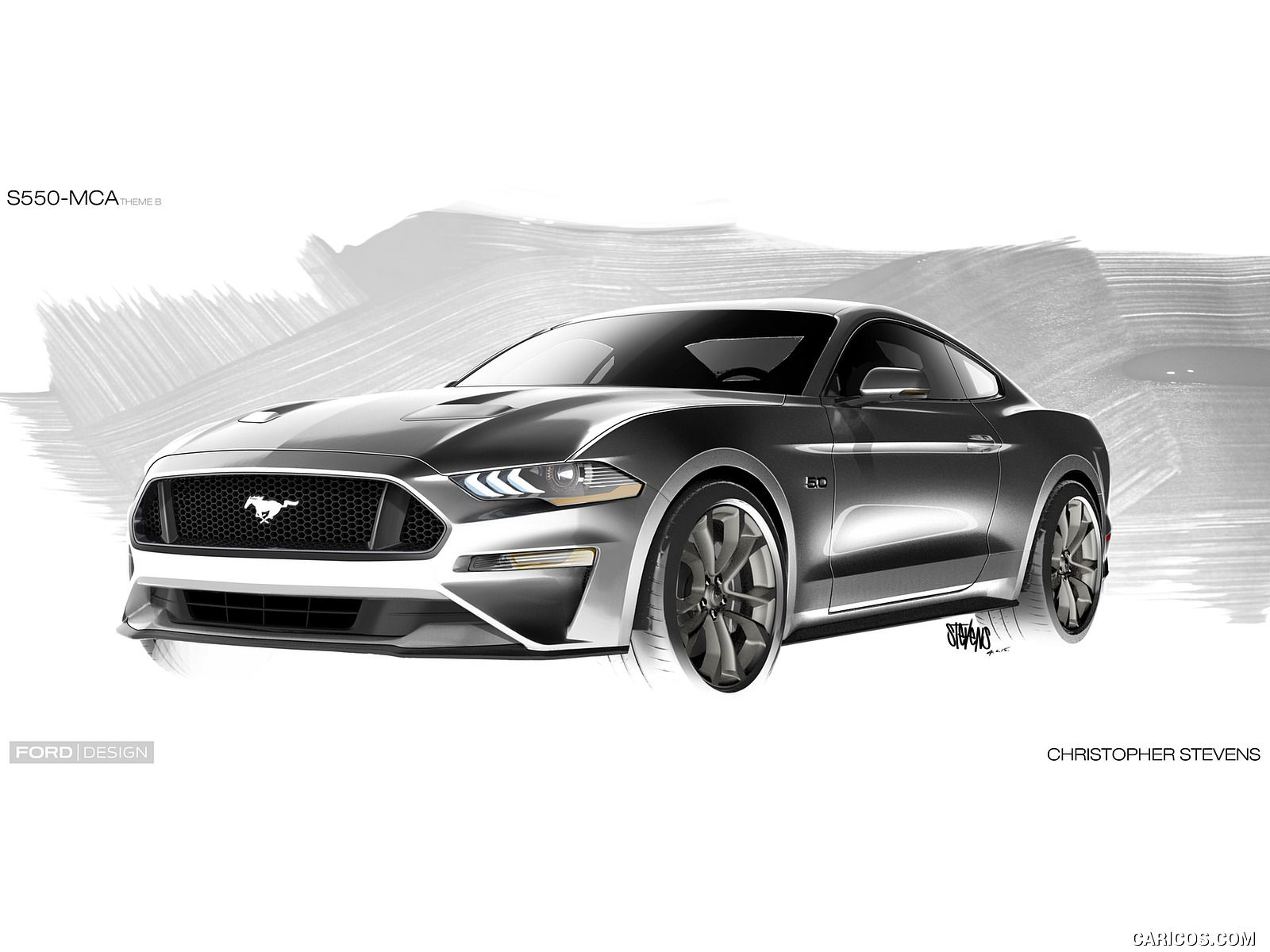 2018 Ford Mustang Design Sketch 22 Of 25 Cars Sketch