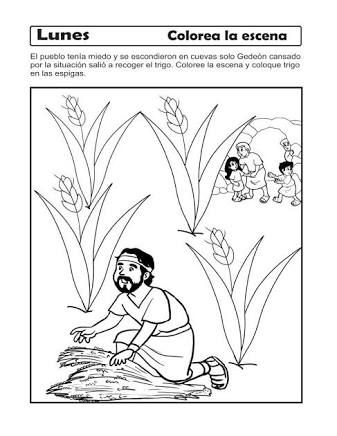 Resultado de imagen para historia biblica de gedeon para nios