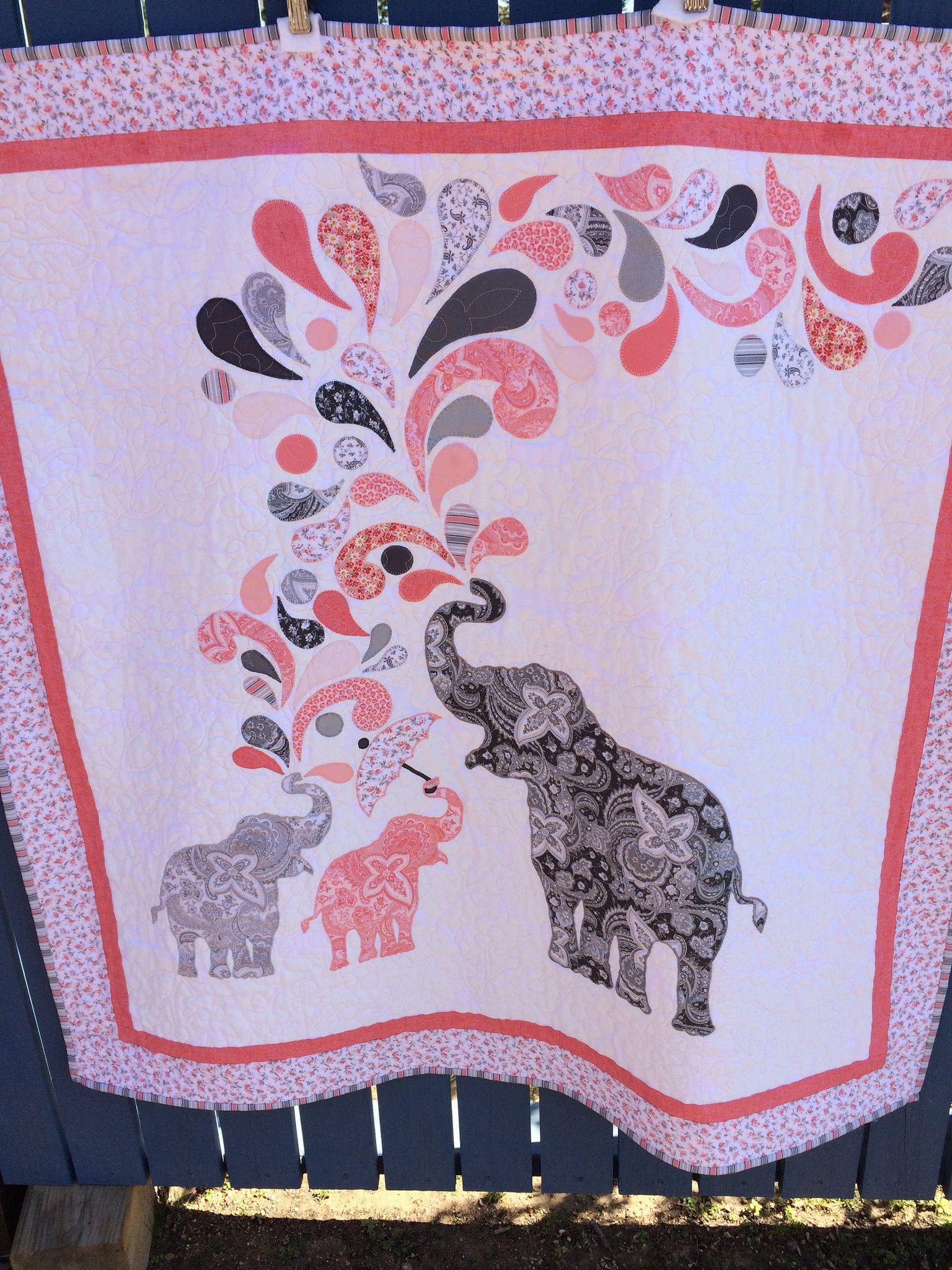Paisley Splash Elephant Quilt Elephant Quilts Pattern Elephant Quilt Elephant Applique