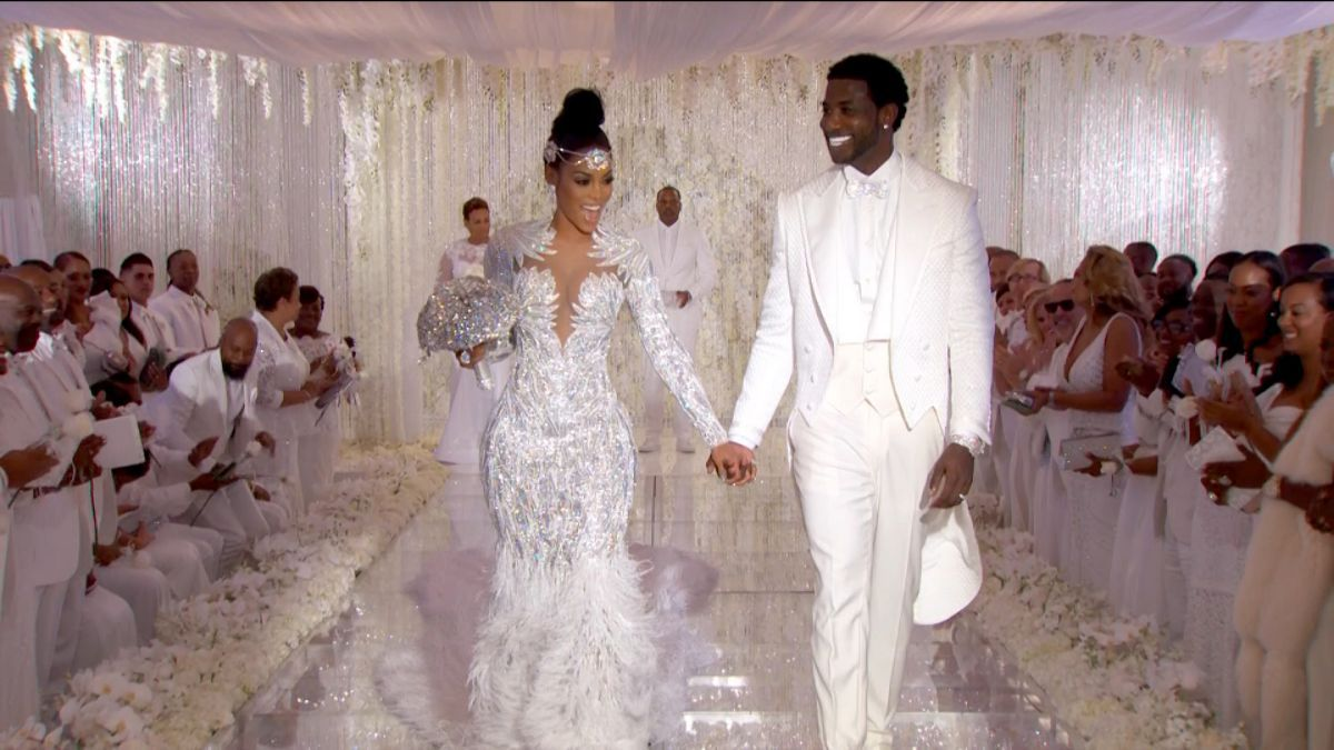 Gucci Mane and Keyshia Kaoir promised a wedding filled with diamonds and crystals and from the first glimpse into their 17 million ceremony
