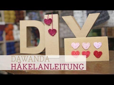 DaWanda Häkelanleitung Herz für Verliebte - YouTube