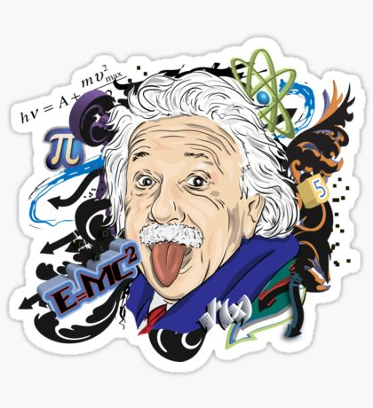 Albert Einstein Sticker By Alapapaju Science Stickers Cute Stickers Work Stickers
