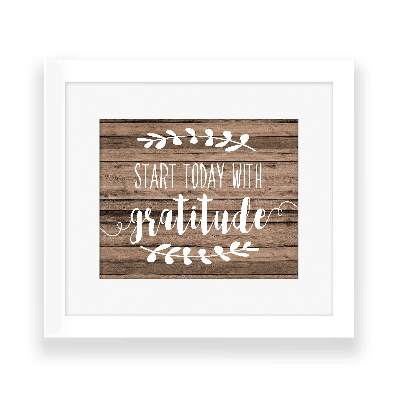gratitude sign printable farmhouse decor farmhouse wall decor
