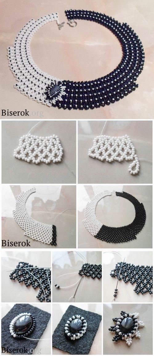 tuto pouun collier deux tons bijoux pinterest collier bijoux et collier perle. Black Bedroom Furniture Sets. Home Design Ideas