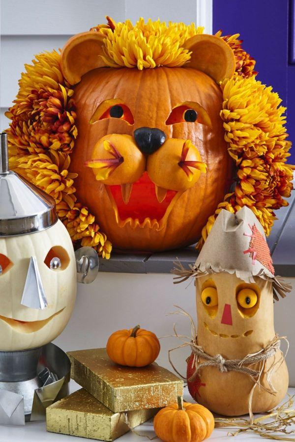 Comment creuser une citrouille pour halloween id es et tutos diy d co citrouille halloween - Tete de citrouille ...