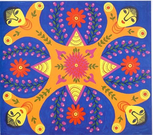 """Tablecloth"" - Maria Primachenko"