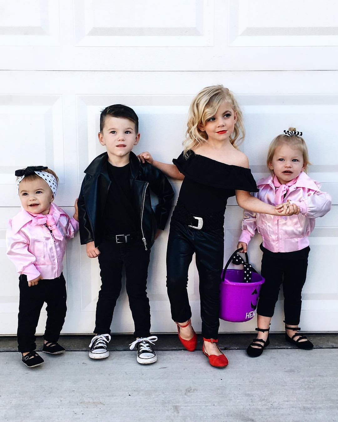 Halloween Grease Grease Lightning Danny Sandy Pink Ladies Krista Hor Grease Costumes For Kids Halloween Kids Costumes Girls Halloween Costumes For Kids