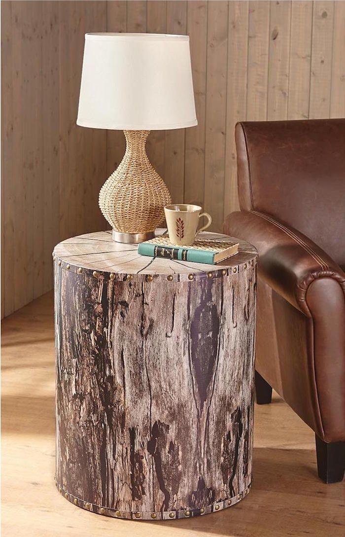 1001 id es meubles tronc d 39 arbre table basse tronc d 39 arbre et mobilier de salon - Meuble tronc arbre ...