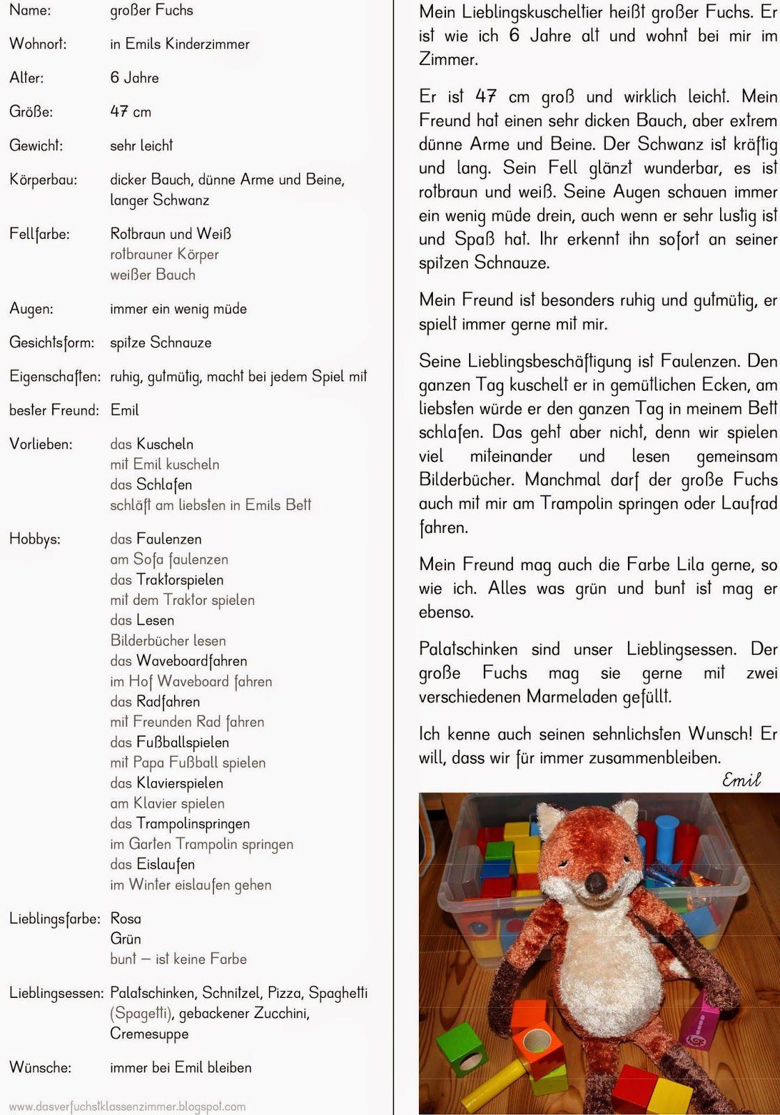 Steckbrief Personenbeschreibung Personenbeschreibung Personenbeschreibung Grundschule Personenbeschreibung Aufsatz