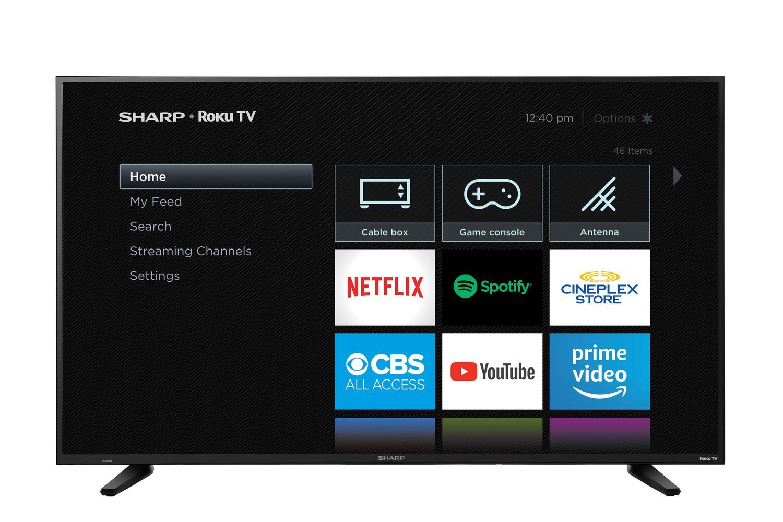 "Sharp 58"" Class 4K Ultra HD HDR LED Roku Smart TV (R6003"