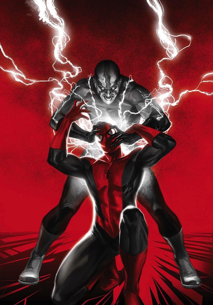 Spider-Man vs Electro by Marko Djurdjevic