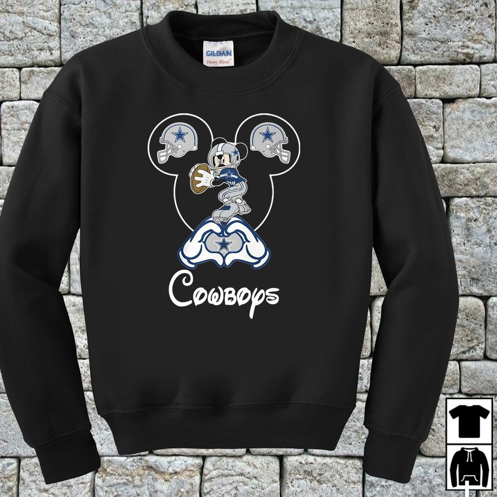 dbdab7491cd Mickey Mouse Dallas Cowboys shirt, hoodie, sweater and v-neck t ...