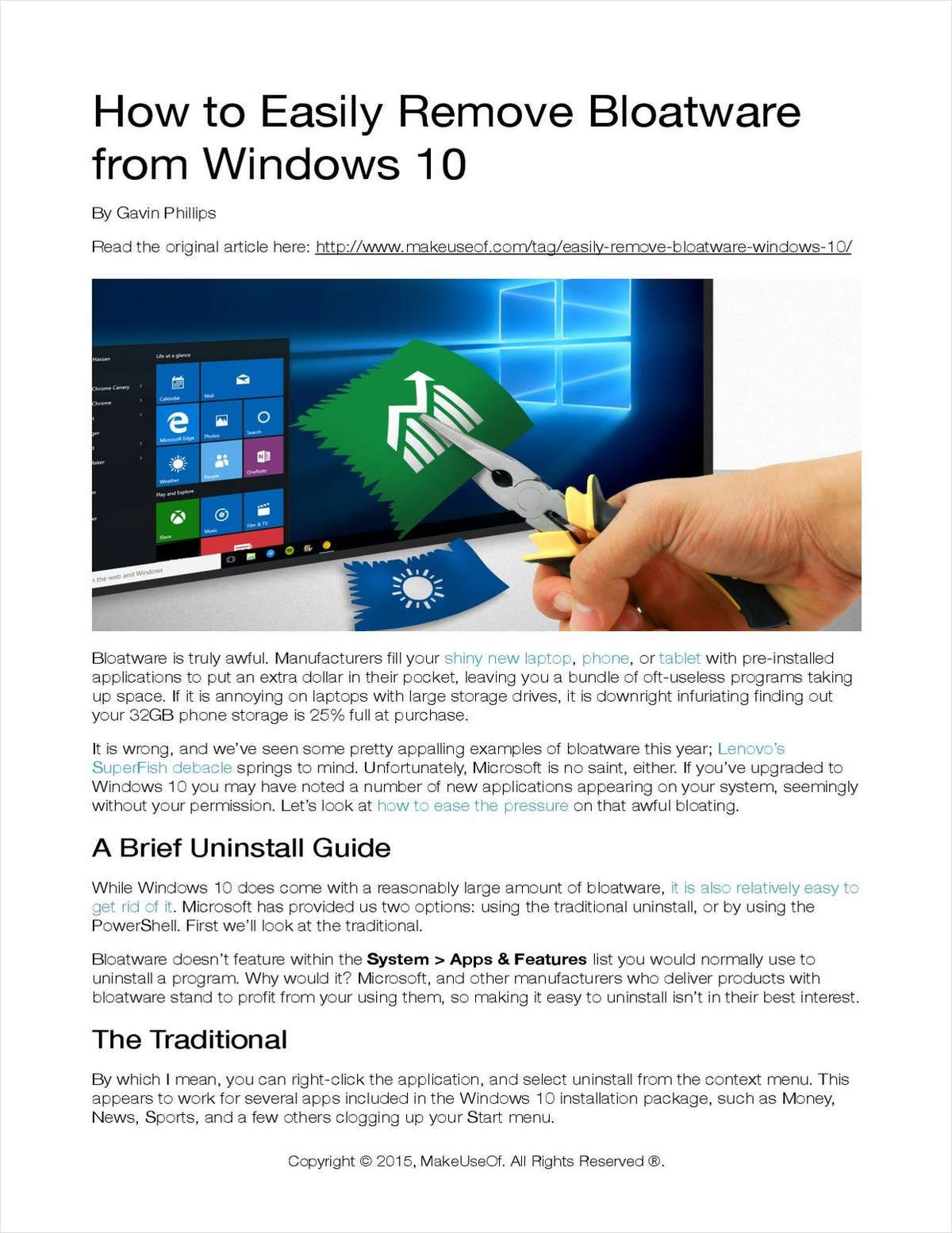 How To Easily Remove Bloatware From Windows 10 How To Remove New Laptops Computer Notes
