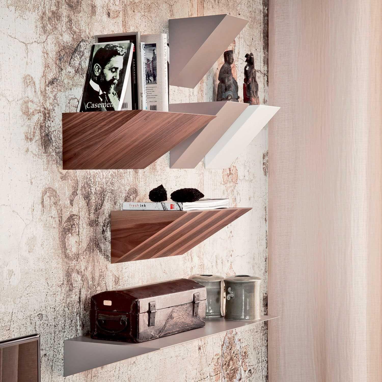 Pendola Bookcase design, Wooden wall shelves, Shelves