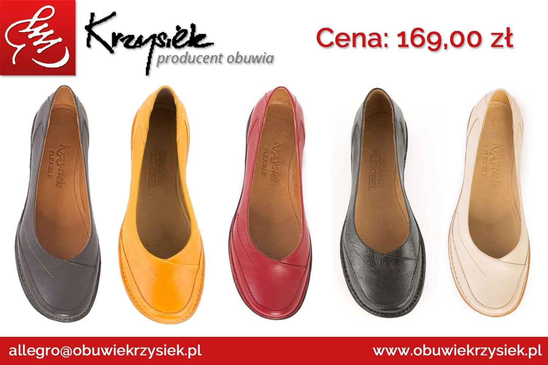 37 Damskie Polbuty Skorzane Balerinki Czerwone 7173423811 Oficjalne Archiwum Allegro Shoes Flats Fashion