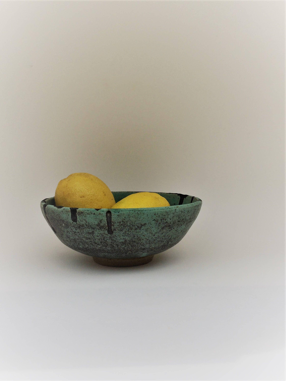 Turquoise Decorative Bowl Bowlceramic Bowlpottery Bowldecorative Bowl With Turquoise