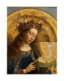 Detail of the Virgin Mary, from the Ghent Altarpiece, 1432 Giclee Print by Hubert & Jan Van Eyck
