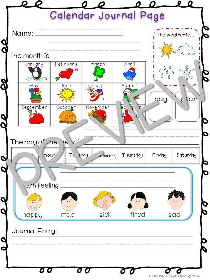 Calendar Journal Calendar Worksheets Calendar Skills And Monthly