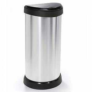 Photo of Curver Deco Touch Top Bin 40L Silber