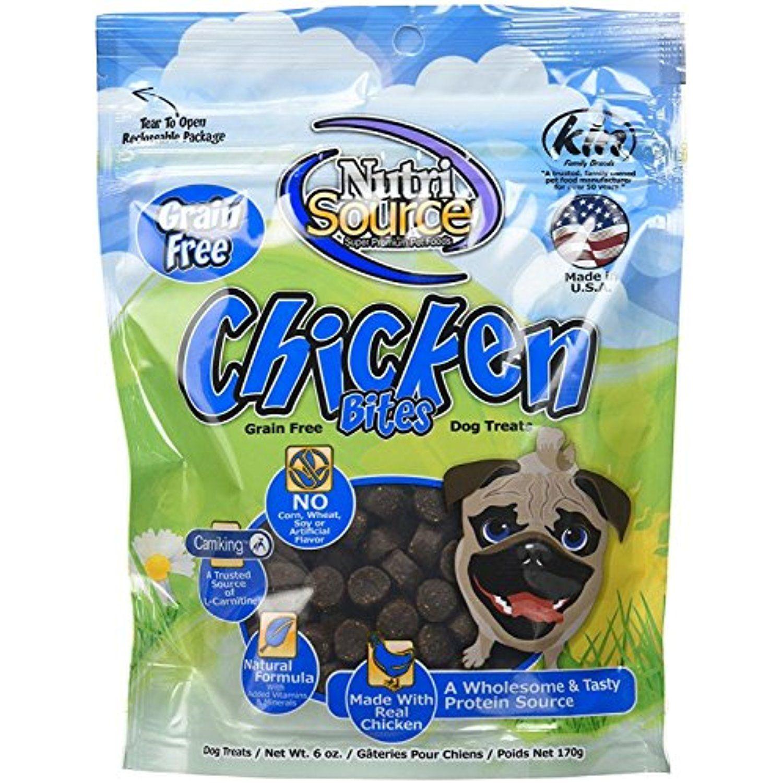 12 pack nutrisource grain free chicken bites dog treats