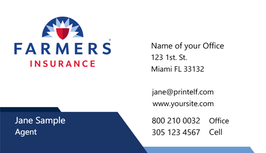 Farmers Insurance Business Cards Free Templates And Designs In