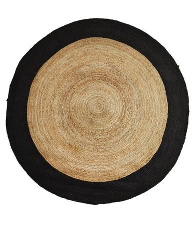 Tapis En Jute Naturel Et Noir Chambre Jules Pinterest Jute And