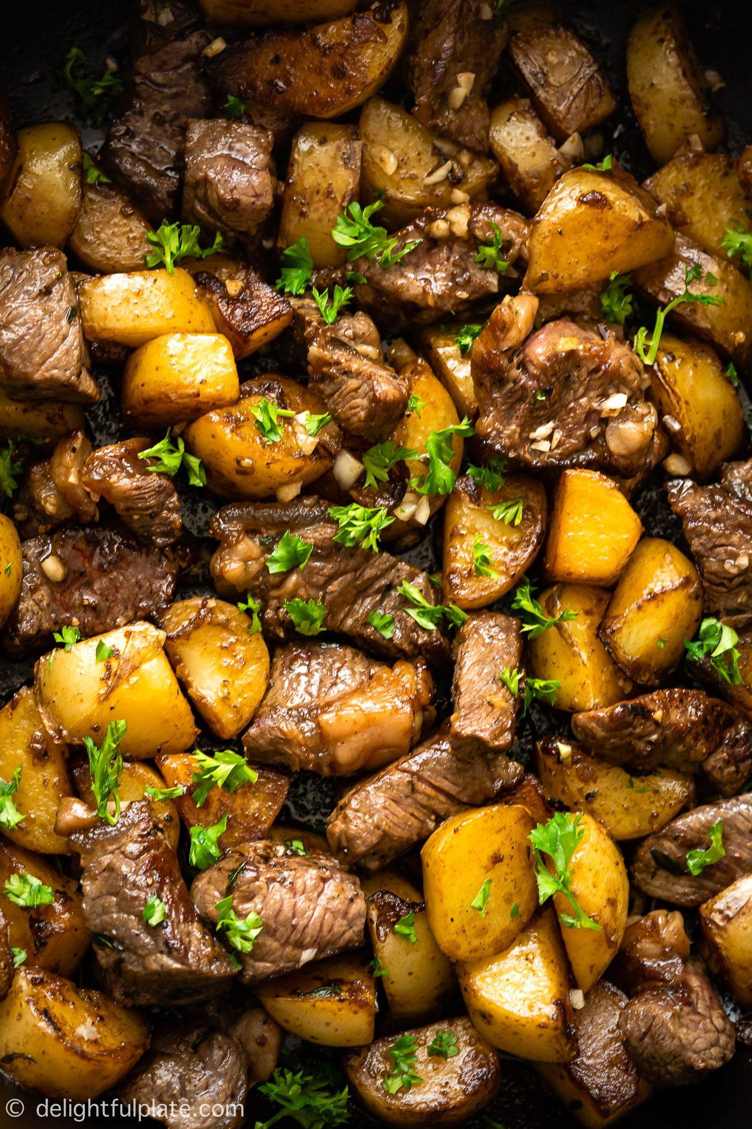 Asian Steak Bites And Potatoes Delightful Plate Recipe Asian Steak Bites Asian Steak Flavorful Beef