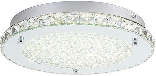 timeless design a9caf 9dceb Auffel Modern Minimalist LED Ceiling Light, K9 Crystal+Glass ...