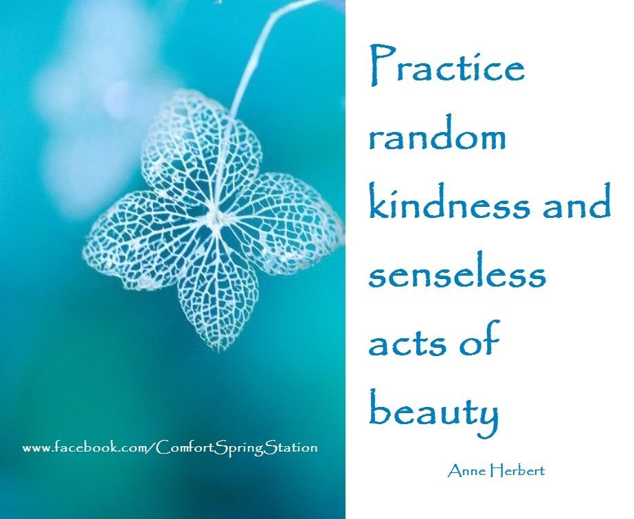 Image result for practice random kindness and senseless acts of beauty water