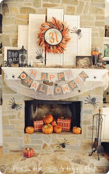 HALLOWEEN MANTEL IDEAS Halloween Decor, Treats, Costumes  more