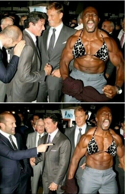 Jason Statham Sylvester Stallone Terry Crews And Dolph