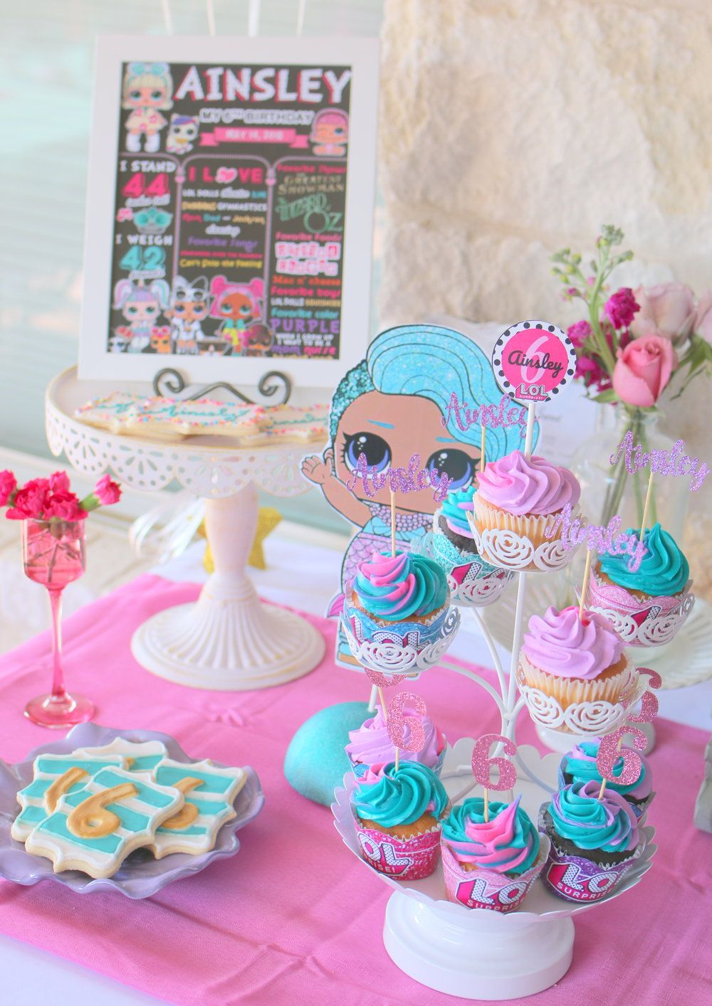 LOL Birthday Party! A fun doll theme for a sweet 6 year