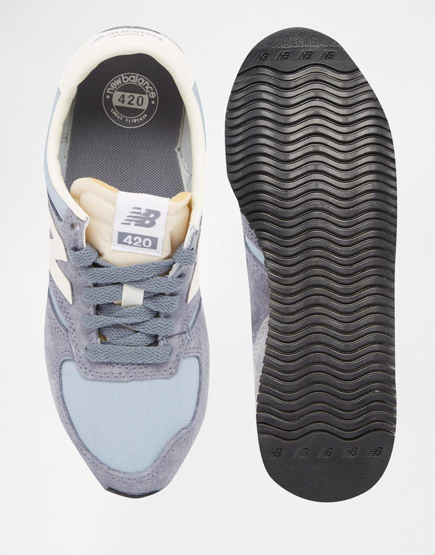 new balance 420 vintage grey trainers