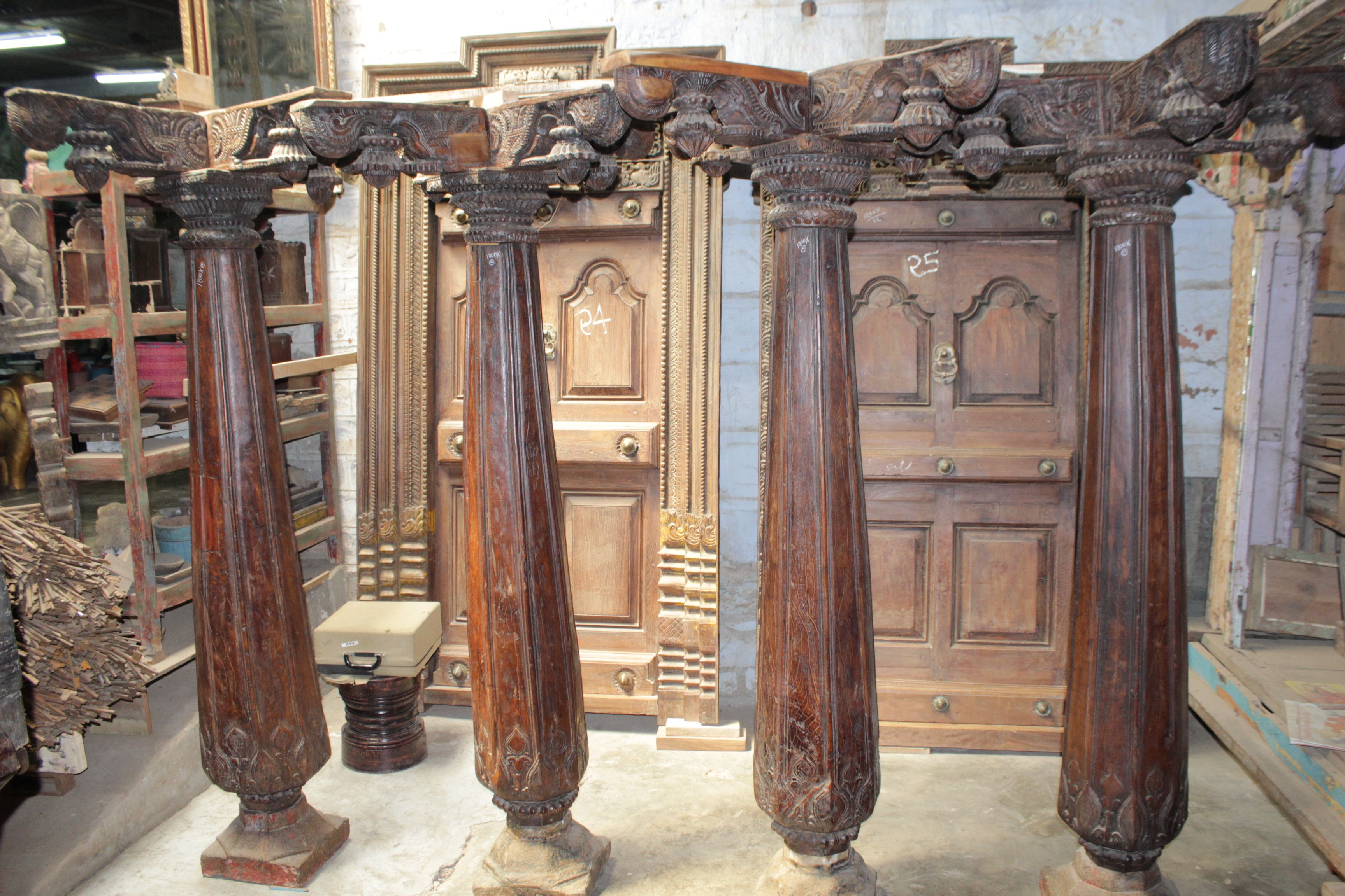 Old South Indian Carving Philler Place At Your Home An