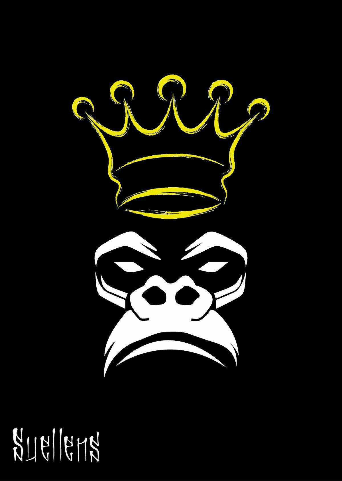Crown Creation Art Graffiti Art King Kong Gorillaz Cartoon Art Monkeys