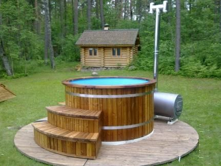 Wood hot tub wood fired hot tub wood hot tub kits for Wood burning spa